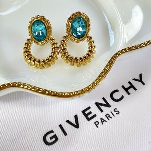 Givenchy Couture Topaz Doorknocker Clip-Ons
